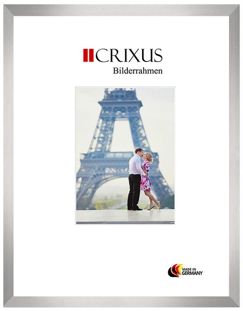 CRIXUS Crixus40M Crixus40M Crixus40M Bilderrahmen für 68 x 93 cm Bilder, Farbe  Alu Silber gebürstet, Holzrahmen MDF mit Acryl-Glas, Rahmen Breite  40mm, Aussenmaß  73,6 x 98,6 cm 4beedd