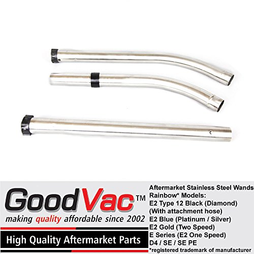 - GoodVac Stainless Steel Wand Set fits ALL Rainbow vacuums as long as being used with attachment (wet) hose. Does NOT work with electrified hoses with gas-pump handle type