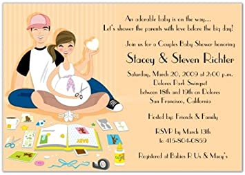 Amazon baby scrappin couple baby shower invitations set of baby scrappin couple baby shower invitations set of 20 filmwisefo