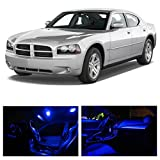 Dodge Charger 2006-2010 Blue Premium LED Interior Lights Package Kit (7 Pieces)