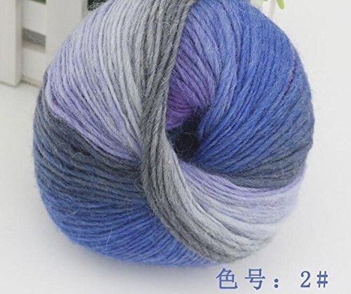 1 ball 100% wool yarns luxury quality fancy iceland thick Hand knitting for yarn knited Melange yarn Worsted Cashmere Wool Yarn (02)