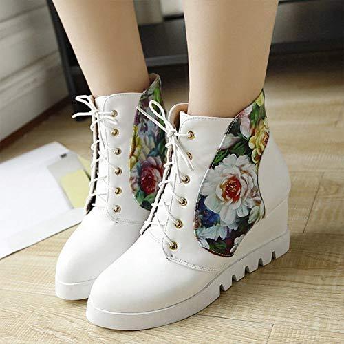 scarpe alte Scarpe Basse Donna Legare Studente Alte Dolci Le Bianca 43 Xe Da Casuali 35 zxwZfYY