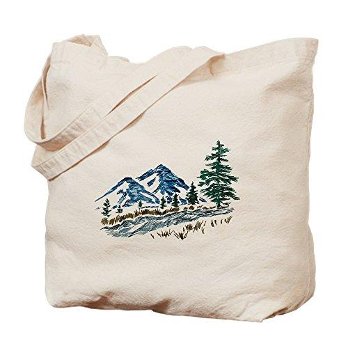 CafePress diseño abstracto de montañas–natural gamuza de bolsa de lona bolsa, bolsa de la compra