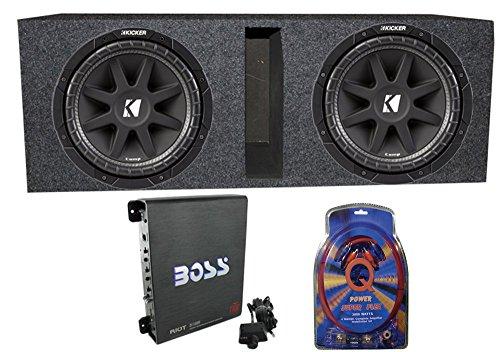 600 Watt Car Subwoofers + Box + 1100W Amplifier + Wire Kit ()