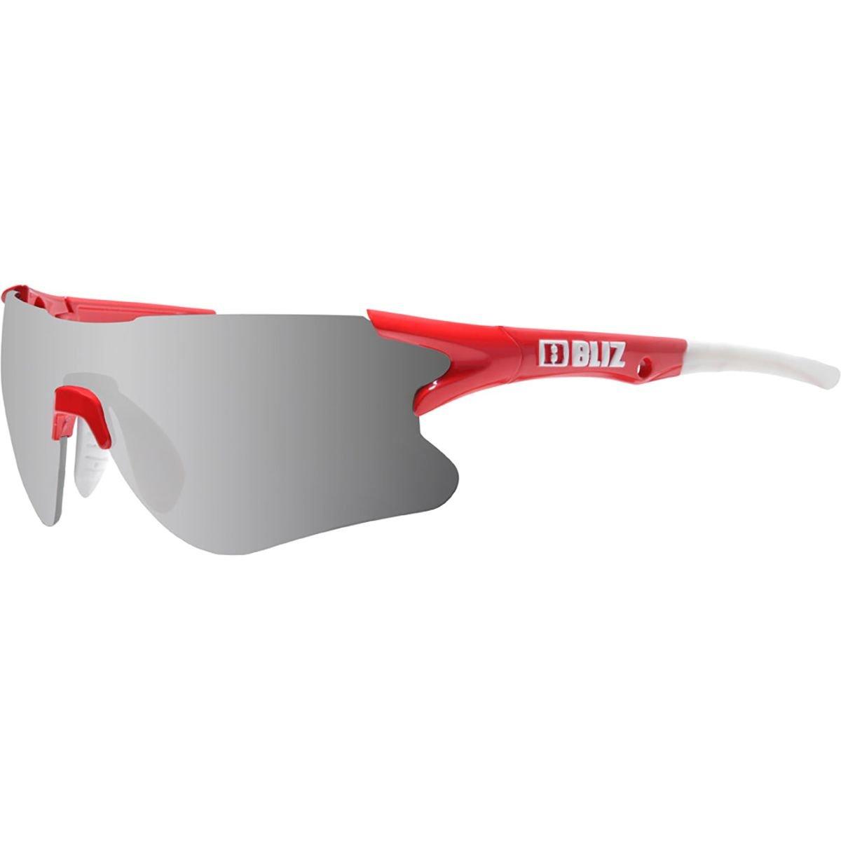 Bliz Tempo Small Fit Sunglasses Smoke Lens with Multi Red Mirror - Silver/Black 4ceDO