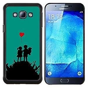 KLONGSHOP // Cubierta de piel con cierre a presión Shell trasero duro de goma Protección Caso - Amor Guerra - Samsung Galaxy A8 A8000 //