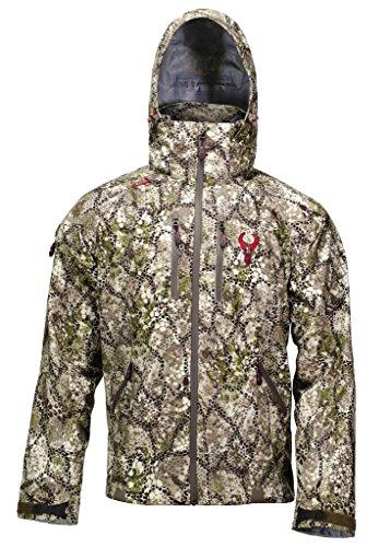 Badlands Alpha Camo Jacket for Men - Lightweight Waterproof Packable Camouflage Hunting Rain ()
