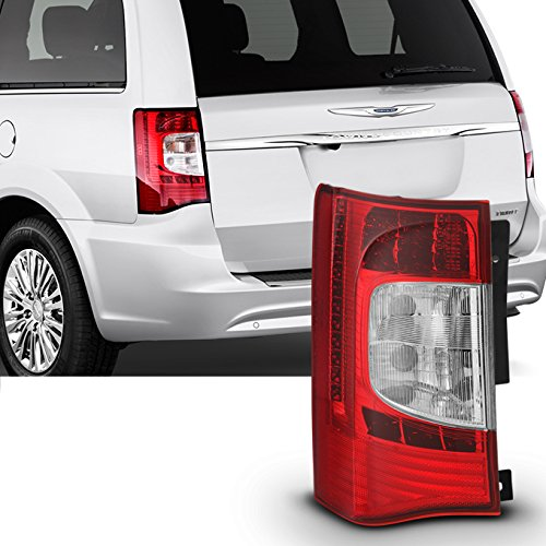 For 2011 2012 2013 2014 2015 2016 Chrysler Town & Country Red Clear Driver LH Left SideLED Tail Light ()