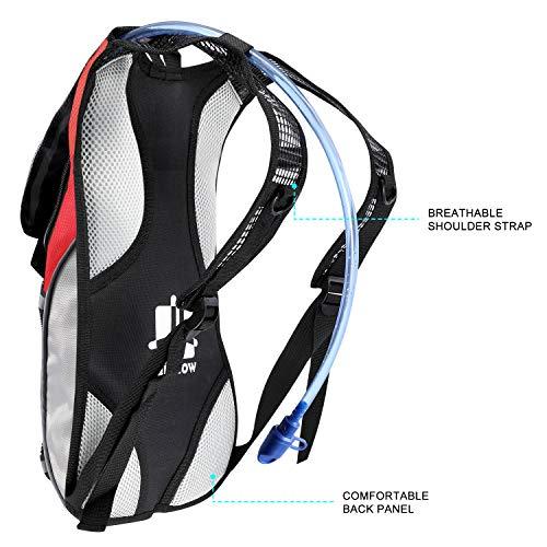 b24ac44062 KUYOU Hydration Pack Water Rucksack Backpack Bladder Bag Cycling Bicycle  Bike/Hiking Climbing Pouch +