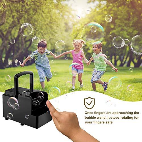 Seifenblasenmaschine tragbar, automatische Seifenblasen Maschine für Kinder/Erwachsene, USB oder akkubetriebener Seifenbalsenmacher für Geburtstagsfeier, Hochzeit, Geburtstag, Halloween, Weihnachten