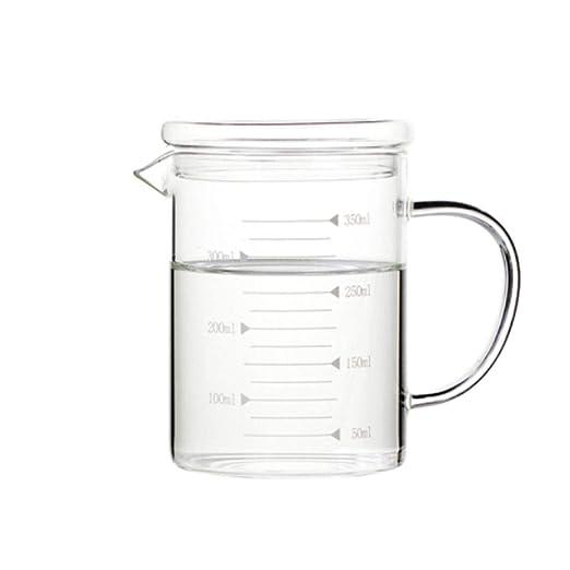 KPPTO Vaso de vidrio resistente al calor Vaso, con taza de ...
