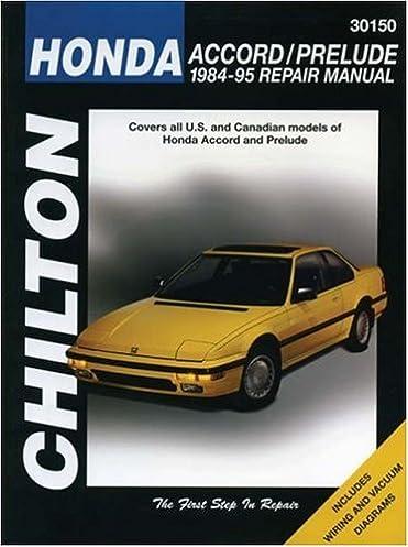 honda accord and prelude 1984 95 chilton total car care series rh amazon com 1989 Honda Accord Manual 91 Honda Accord Manual