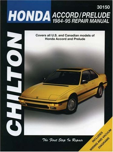 Honda Accord and Prelude, 1984-95 (Chilton Total Car Care Series Manuals) (Honda Accord Prelude compare prices)