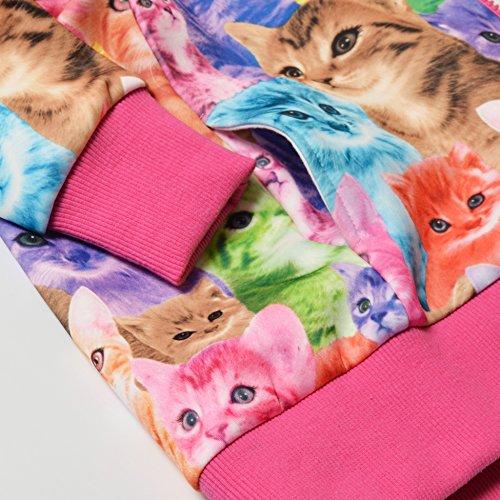 Jxstar Little Girls Cat Jacket Coat Long Sleeve Full Zip Hoodie Outwear Pocket by Jxstar (Image #6)