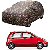 MotRoX Car Body Cover For Chevrolet Spark with Side Mirror Pocket (Military Color)