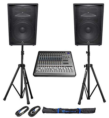 14 Channel Powered Mixer - 2) JBL Pro JRX215 15