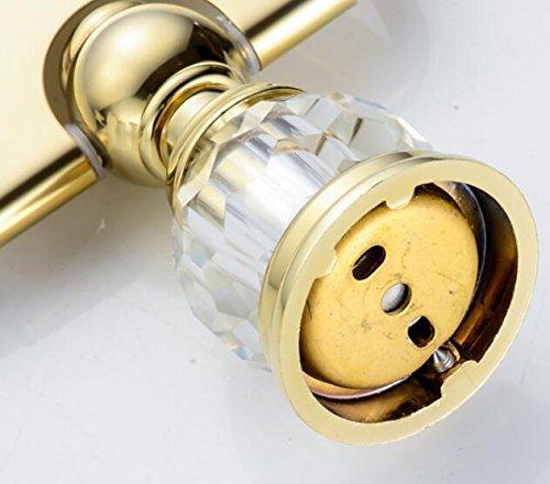 Leyden TM Bathroom Lavatory Luxury Gold Soild Brass Toilet Paper Holder Tissue Roll Holder Tissue Storage Tissue Organizer Wall Mounted, Polished Gold by Leyden (Image #5)