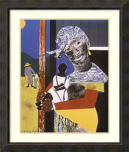 Framed Wall Art Print Come Sunday by Romare Bearden 28.12 x 33.62