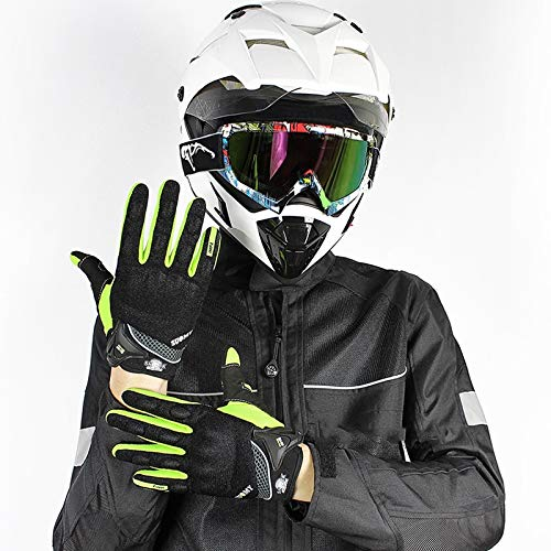 AINIYF Full Finger Motorcycle Gloves | Motocross Anti-skid Slip Breathable Cycling Racing Locomotive Touchscreen Outdoor Gloves Male Summer Knight Equipment (Color : Green, Size : XXL) by AINIYF (Image #3)