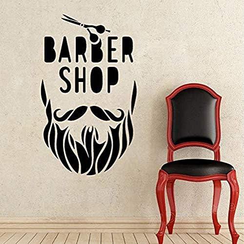 Afneembare haren Beauty Salon Barbershop baard schaar wanddecoratie sticker mode kapsel snor modern DIY 42 x 70 cm