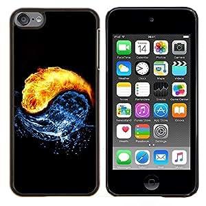 """Be-Star Único Patrón Plástico Duro Fundas Cover Cubre Hard Case Cover Para iPod Touch 6 ( Arte Universo Yin Yang Agua Fuego Cosmos Círculo"""" )"""