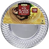 Daily Chef Big Party Pack - Clear Plastic Plates, 9 Inch, 100 Count