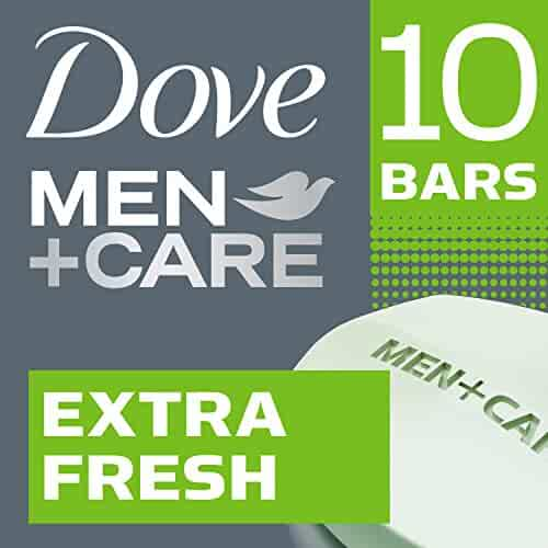 Dove Men+Care Body and Face Bar, Extra Fresh, 4 Ounce, 10 Count