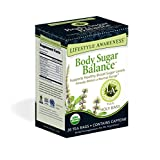Lifestyle Awareness Body Sugar Balance Tea with Holy Basil, Contains Caffeine, 20 Tea Bags, Pack of 6