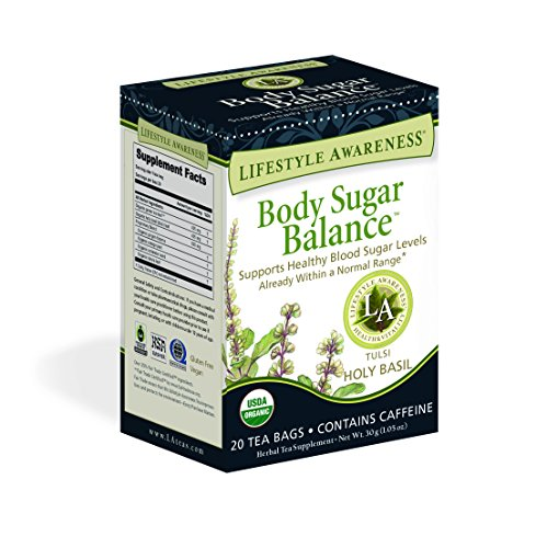 Lifestyle Awareness Body Sugar Balance Tea with Holy Basil, Contains Caffeine, 20 Tea Bags, Pack of 6 by Lifestyle Awareness