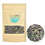 NIGHT TIME CHAMOMILE RELAX Tea by TeaMi Blends - Best for Night Time Before Sleep, Stress Relief, & to Calm the Mind with 100% All-Natural Valerian Root, Lavender, and Peppermint. Caffeine Free!