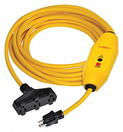 Line Cord GFCI, 25 ft, YLW, 15A, 5-15P, 125V