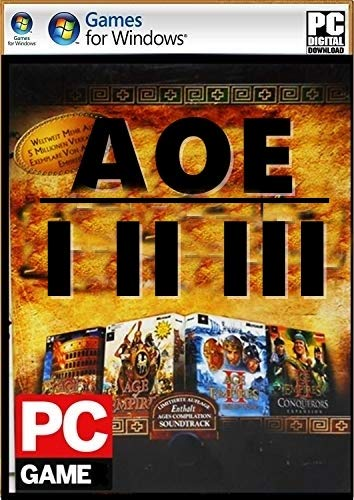 EPC Games: AOE (1,2 & 3) (Digital Download) No DVD/CD (No Online Multiplayer) – Single Player Mode (PC Game)
