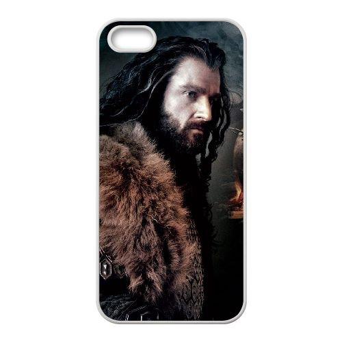 Thorin Oakenshield 001 coque iPhone 4 4S cellulaire cas coque de téléphone cas blanche couverture de téléphone portable EOKXLLNCD20406