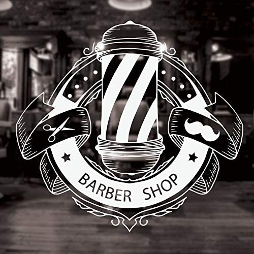 mlpnko Barber Shop Logo Logo Tatuajes de Pared Autoadhesivo removible Decorativo Barber Sticker mural48X45cm