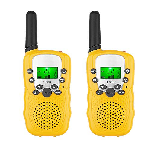 Kids Walkie Talkies, BFYWB 22-Channel FRS/GMRS Radio, 4-Mile Range Two Way Radios With Flashlight And LCD Screen , And Toys Christmas Gifts for 3-12 Year Old Boys And Girls]()