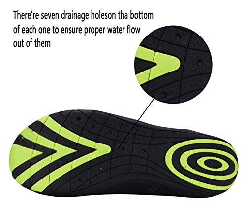DEMANGO Yoga Shoes Barefoot Quick-Dry Water Sports Aqua Shoes Swim Walking Lake Beach S-black 6ylACeFMa