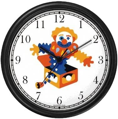 Jack in the Box 2 Wall Clock by WatchBuddy Timepieces Hunter Green Frame