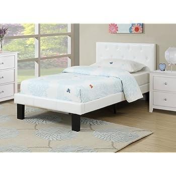amazoncom poundex pdexf9416f beds white kitchen amp dining