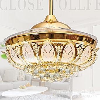 Lámpara LED de ventilador, ventilador de techo, invisible salón ...