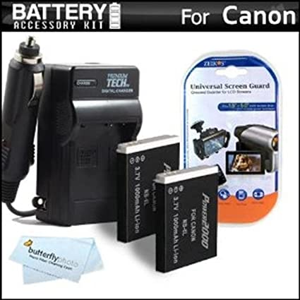 Amazon.com: 2 Pack de batería y cargador Kit para Canon ...