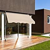 "AECOJOY 78""×47""Manual Retractable Awning Patio"