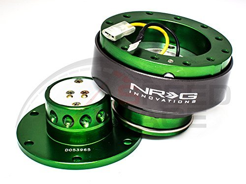 NRG Steering Wheel Quick Release Kit - Generation 2.0 - Green with Titanium Ring SRK-200GN (Disconnect Wheel Steering)