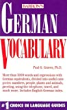 German Vocabulary, Paul G. Graves, 0812044975