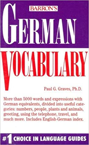 German Vocabulary Book Pdf