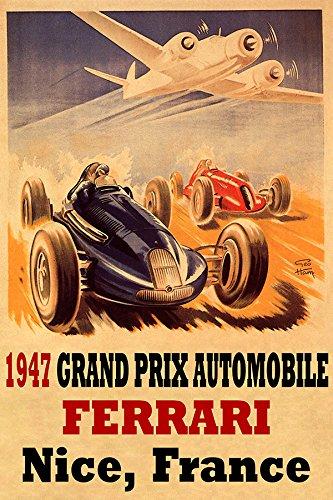 1947 GRAND PRIX AUTOMOBILE FERRARI NICE FRANCE CAR ROAD RACE AIRPLANE 20