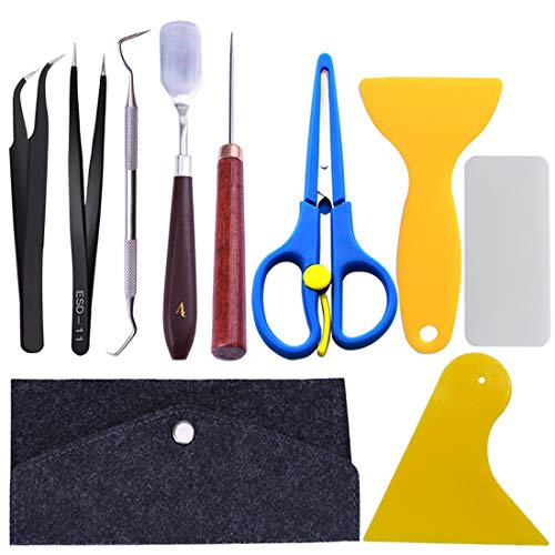 (10 Pieces Craft Vinyl Weeding Tools Stainless Steel Precision Craft Basic Set Craft Vinyl Tools for Weeding Vinyl, HTV, Lettering)