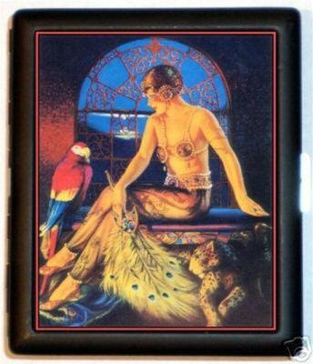 Flapper Egyptian With Parrot Cigarette Id (Egyptian Cigarettes)