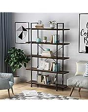 LANGRIA Bookcase Industrial Bookshelf
