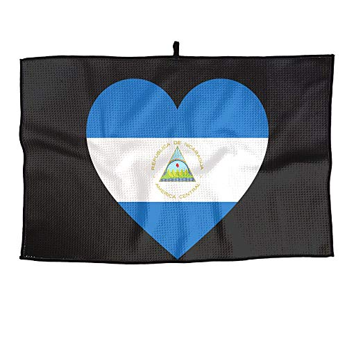 - PIN Love Nicaragua Flag Golf Towel Sports Towel Player Towel 23.6x15 Inches