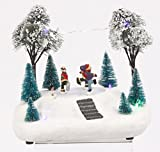 Lighted Winter Holiday Scene with Animated
